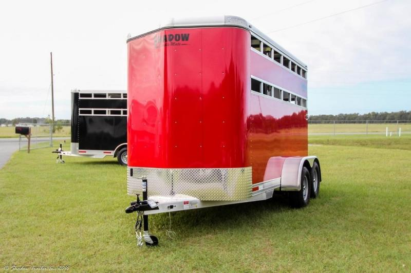 2017 Shadow 2-Horse Stockside Bumperpull Trailer