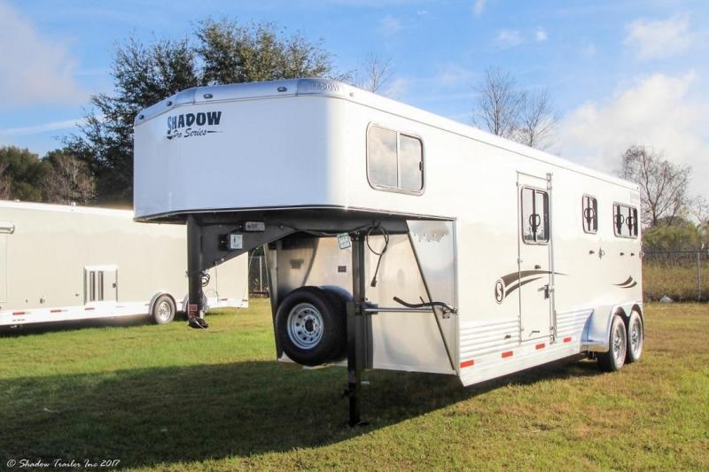 2017 Shadow 2+1 Horse Gooseneck Straight Load Trailer