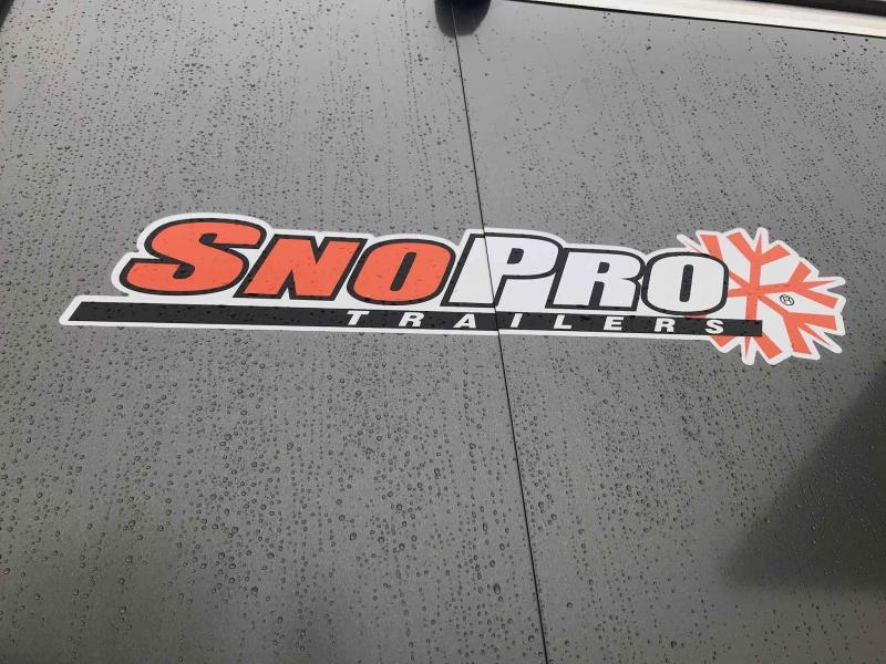 2018 Snopro SNOPROE101X22DL-H-LM Snowmobile Trailer