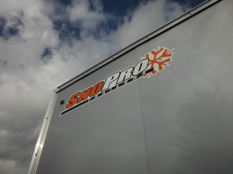 2018 Snopro SNOPROE101X16DL-LM Snowmobile Trailer