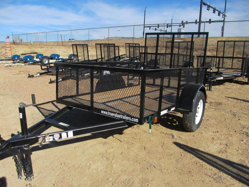 Wood Flatbed Trailer ~ Carry on wood floor mesh sides utility trailer
