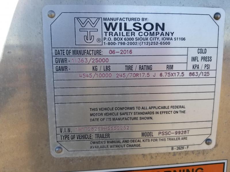 2017 Wilson 28' Roper Double Deck Stock Trailer