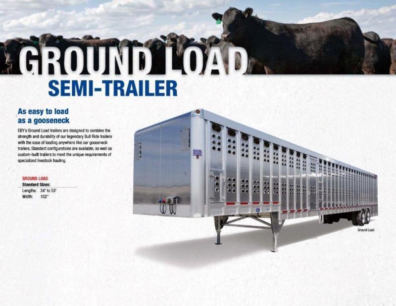 2019 EBY 52' Ground Load Livestock Semi Trailer