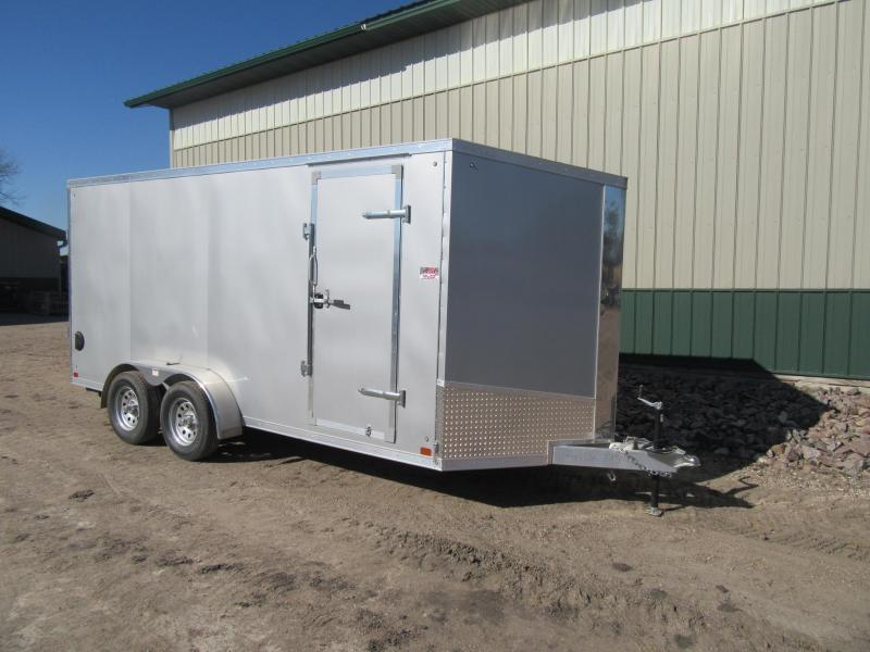 2019 7'x16' Discovery Aluminum Enclosed Trailer