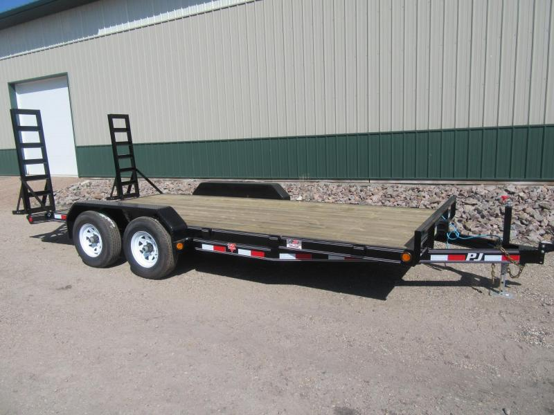 "2019 PJ 18'x5"" Channel Equipment Trailer"