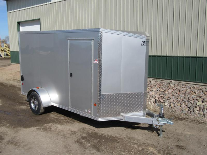 2017 6'x12' EZ Hauler Aluminum Enclosed Cargo Trailer