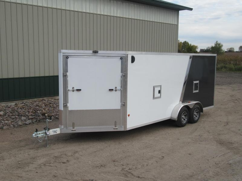 2018 7'x19' EZ Hauler Aluminum Enclosed Snow Trailer