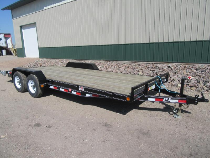 2018 PJ Trailers 18x5 10k Channel Equipment Trailer