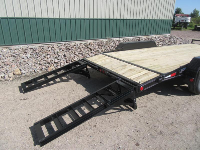 "2019 PJ 18' x 5"" Channel Equipment Trailer"