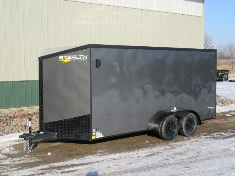 2019 7'x16' Stealth Enclosed Cargo Trailer