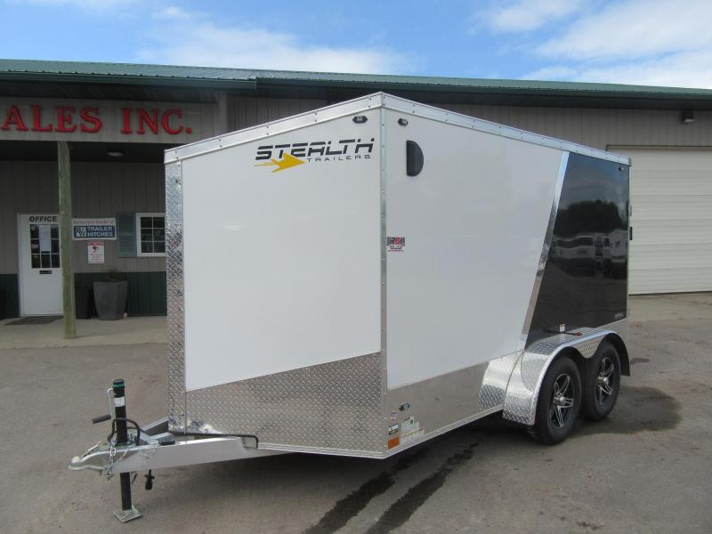 2020 Stealth Trailers Aluminum Blackhawk Motorcycle Trailer