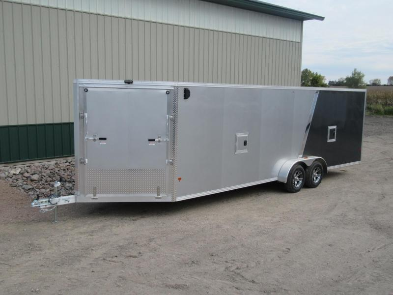 2018 7'x29' EZ Hauler Aluminum Enclosed Snow Trailer