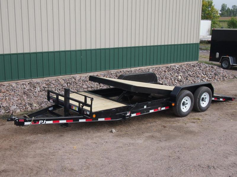 "2020 PJ Trailers 20'x6"" Channel Equipment Tilt Equipment Trailer"