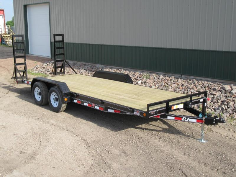 "2019 PJ 20'x5"" 10k Channel Equipment Trailer"
