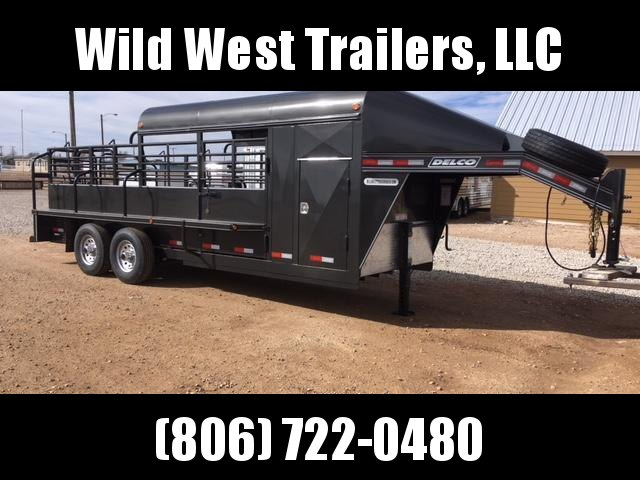 2018 Delco 3/4 Top Livestock Trailer