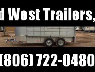 2016 Delco Trailers 5' X 16' Half Metal Top Livestock Trailer