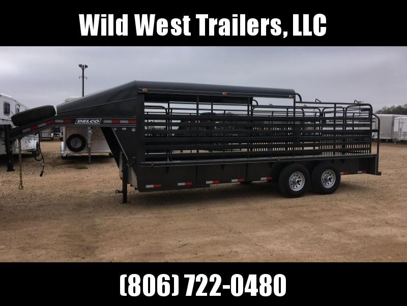 2018 Delco Trailers 3/4 Metal Top Livestock Trailer