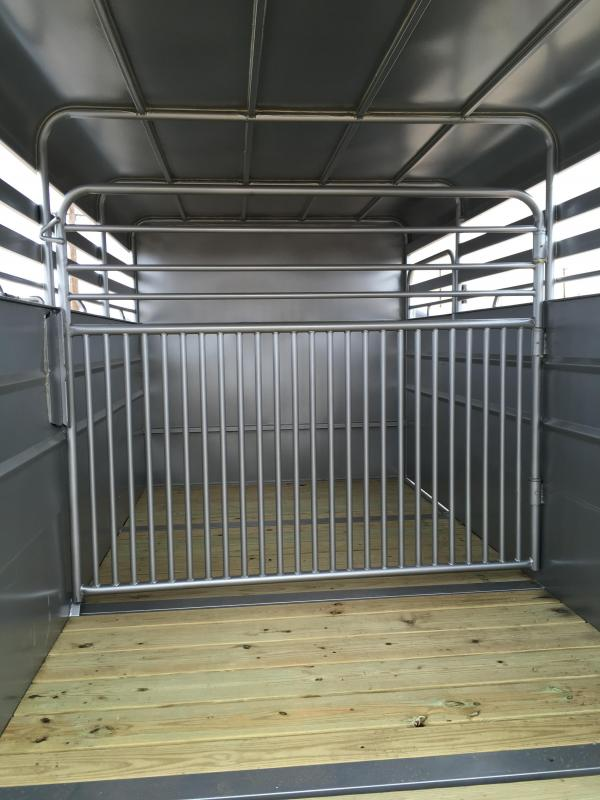 2018 Delco Trailers Metal Top Livestock Trailer