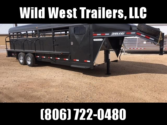 2018 Delco Full Top Livestock Trailer