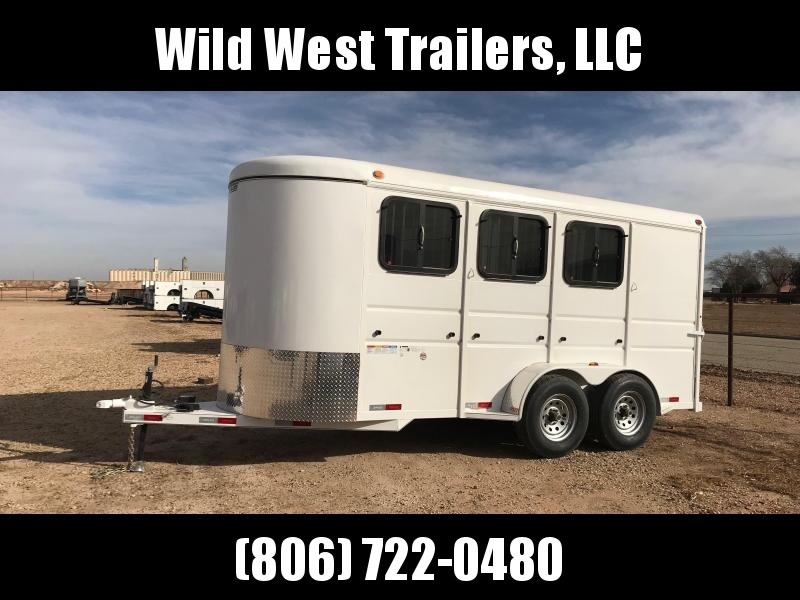 2018 Delco Trailers Fully Enclosed 3 Horse Trailer