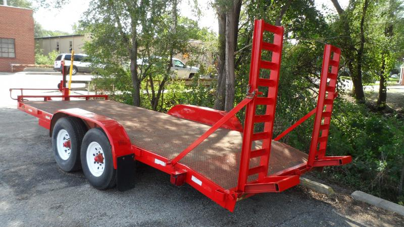 1998 H and H Trailer Bobcat Equipment Trailer