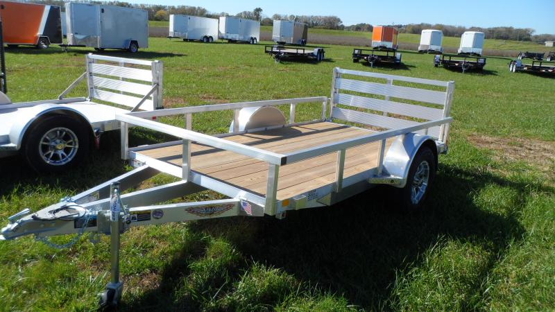 2019 H and H Trailer 5.5(66)x10 RAILSIDE ALUM STD