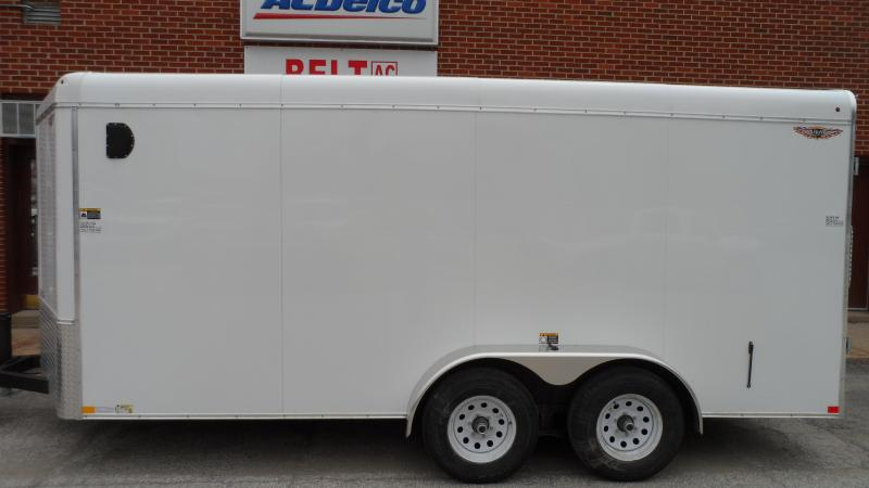 2019 H and H Trailer 7X16 TANDEM RND TOP HH VNOSE 10K CARGO