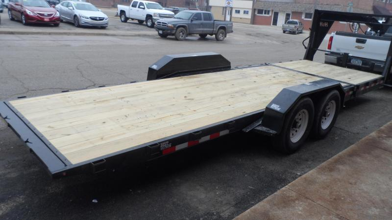 2018 H and H Trailer Gravity Tilt 18+6 Gooseneck Equipment Trailer