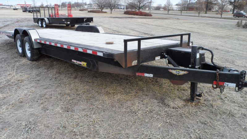 2012 H and H Trailer Low Deck Electric tilt Equipment Trailer