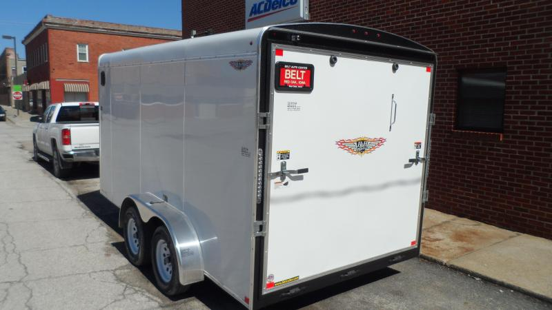 2019 H and H Trailer 7X14 TANDEM RND TOP HH VNOSE 7K CARGO