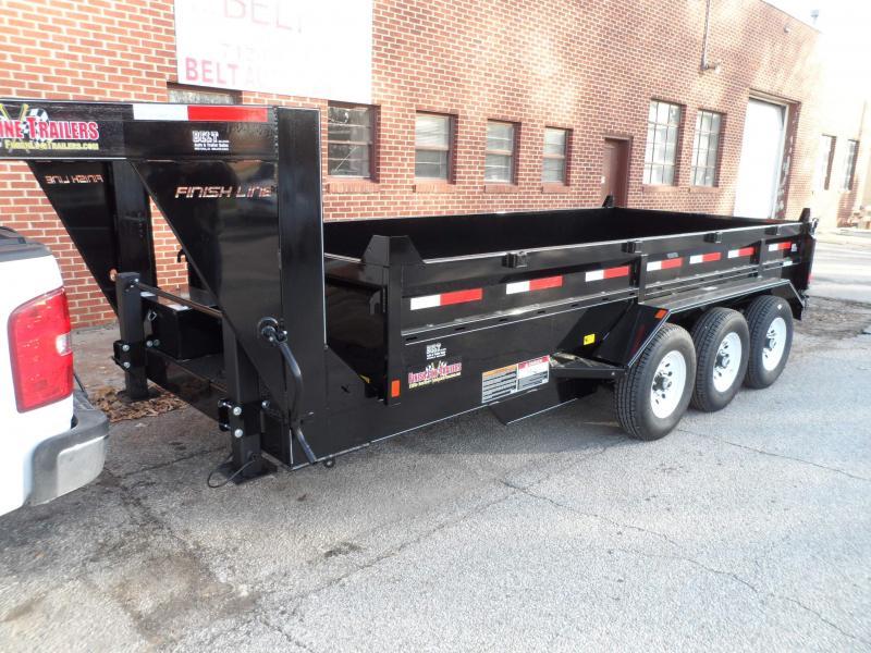 2018 Finish Line Dump Box 8.5x16 21k Dump Trailer