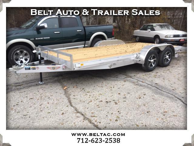 2018 H&H Trailer Car Hauler 82x16+2ft dove aluminum