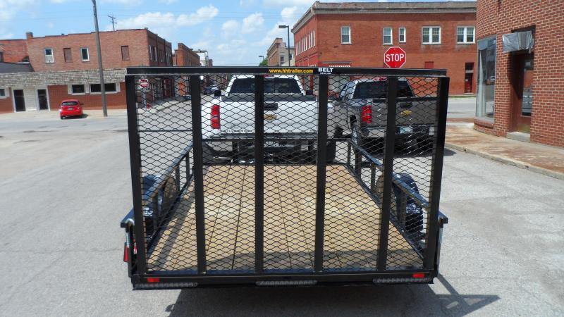 2018 H and H Trailer 8X10 STEEL RAIL SIDE 3.5K