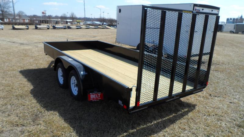 2018 H and H Trailer 8.5X16 STEEL SOLID SIDE TANDEM 7K