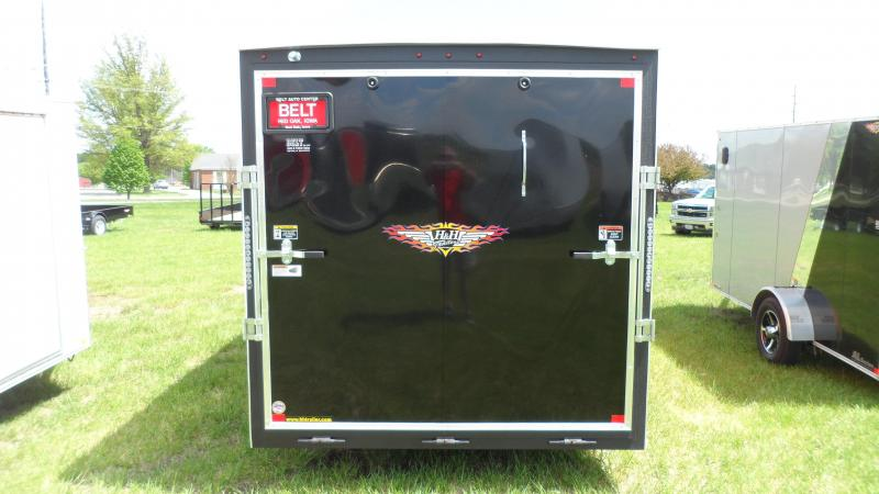 2018 H and H Trailer 7X12 SINGLE FLAT TOP HH VNOSE 5K CARGO
