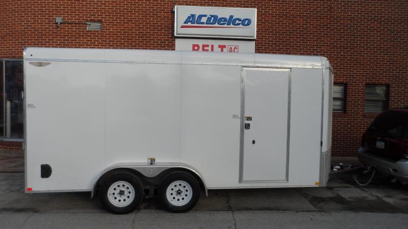 2019 H and H Trailer 7x16x78 Round top V nose Cargo Enclosed Cargo Trailer
