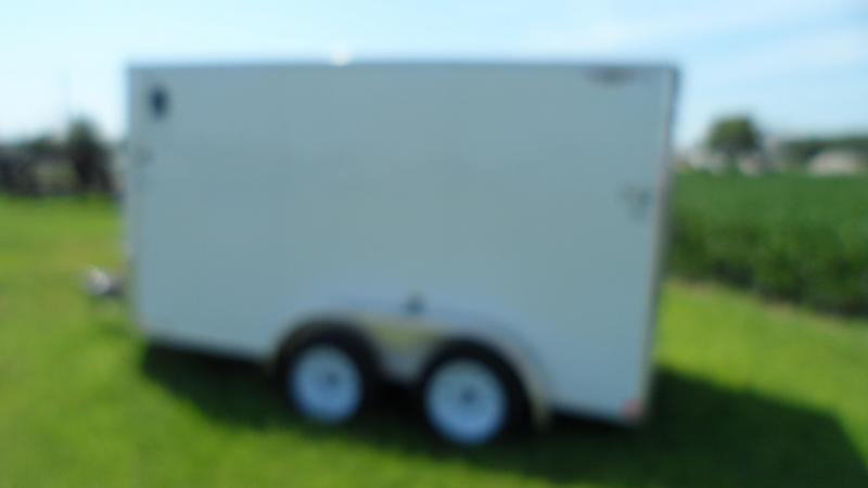 2018 H and H Trailer 6X12 TANDEM FLAT TOP HH VNOSE 7K CARGO