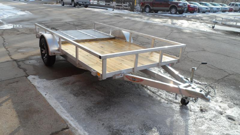 2018 H and H Trailer Rail Side 76x12 Utility Trailer