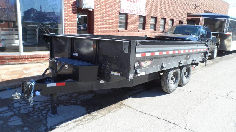 2018 H and H Trailer Dump Box deckover Dump Trailer