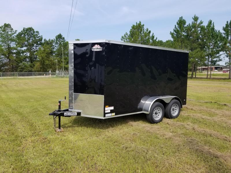 2018 ROCK SOLID CARGO(BLACK) 6X12TA-3500LB Enclosed Cargo Trailer