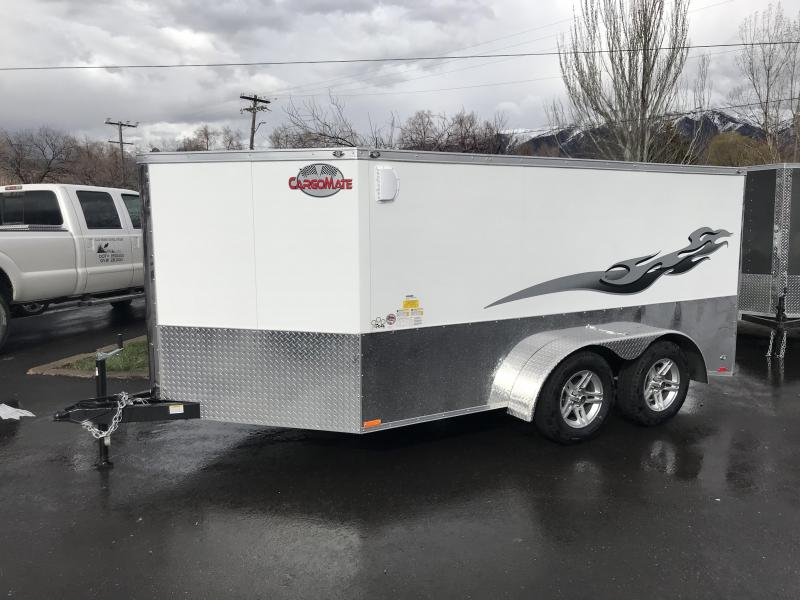 2018 Cargo Mate 7X12 Lowrider Motorcycle Trailer