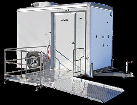 UltraLav WC6141-ADA-SD Single-Stall Shower / Restroom Combo Trailer