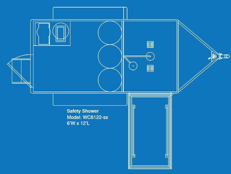 UltraLav WC6122-SS Single-Stall Safety Shower Trailer