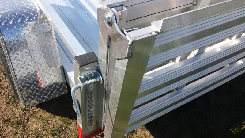 2018 Stealth Trailers 5x8 Alum Open Deck Rail Utility Trailer