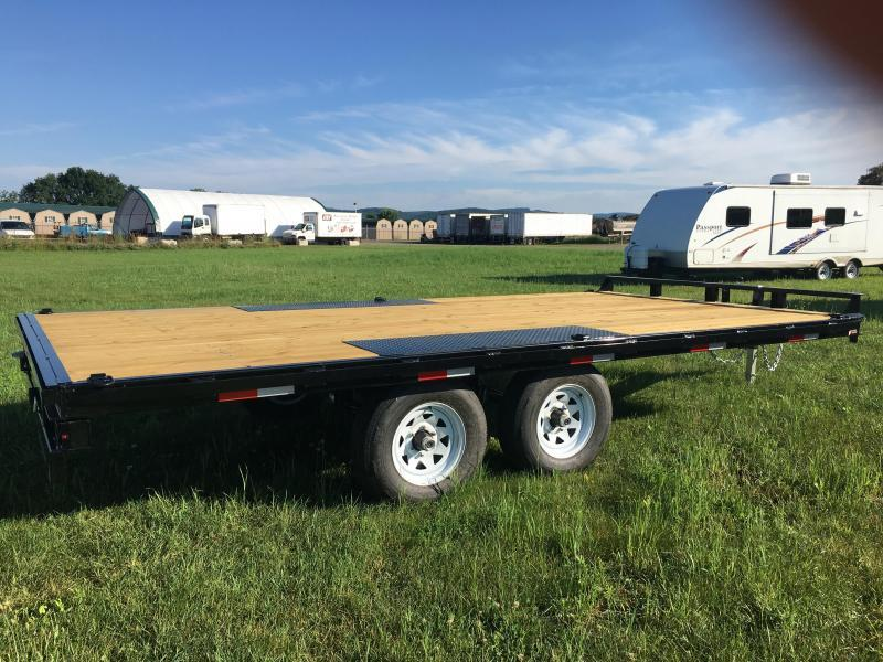 2017 Sure-Trac 8.5x16 10K Deckover Flatbed Trailer