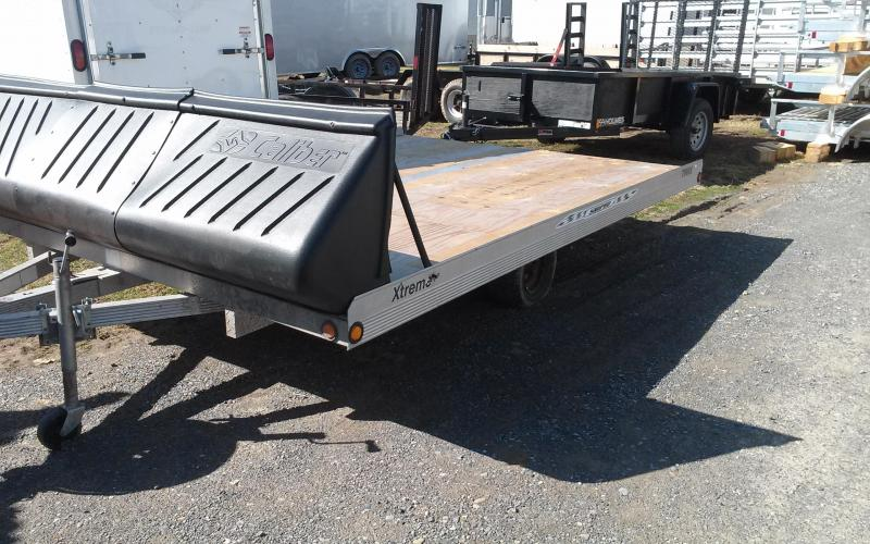 "2007 Snopro 99""x12' Tilt Snowmobile Trailer"