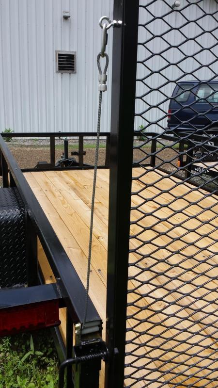 2018 Holmes 6-4x12 Commercial Open Side Rail 5k Utility Trailer