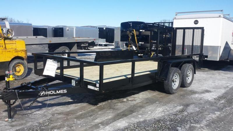 2017 Holmes 6-10x16 Commercial Open Side Rail 7k Utility Trailer