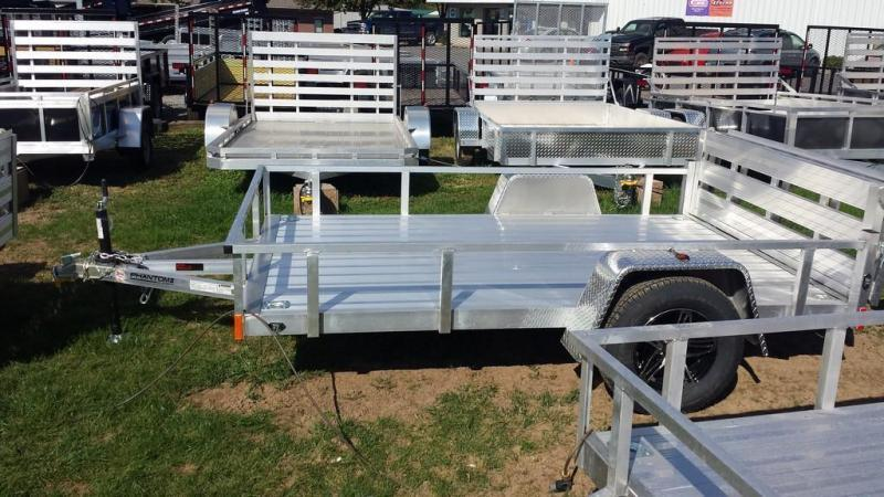 2018 Stealth Trailers 6-5x10 Alum Open Deck Rail Utility Trailer