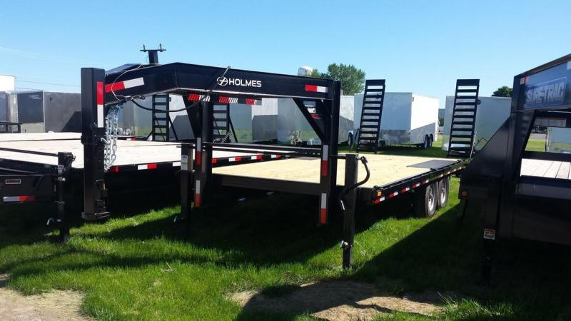 2016 Holmes 8x20 Deckover Gooseneck Equipment Trailer
